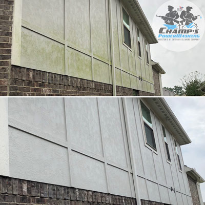 Pressure Washing House Before and After
